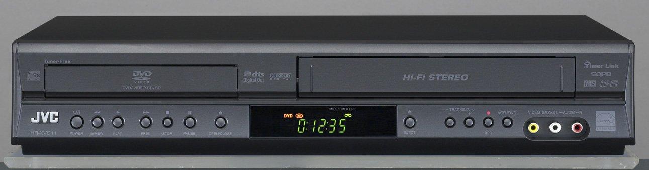 JVC HRXVC11B Progressive Scan DVD Player and VCR Combo