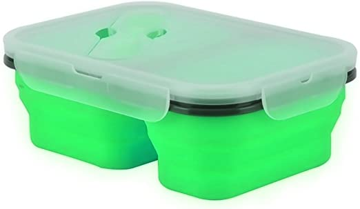 Amazon.com: Caja de almuerzo de silicona ampliable y ...