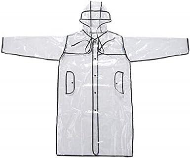 Women Girls Men Transparent Hoodie Clear Rainwear Runway Raincoat RainCoat