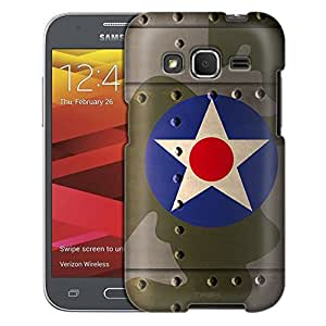 Samsung Galaxy Core Prime Case, Slim Fit Snap On Cover by Trek United States Air Corps War Plane Fuselage Case