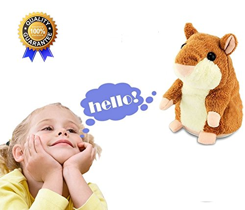 Electronic Hamster Talking Back Toy Repeats What You Say Hamster Repeats Talking Hamster for Christmas (Halloween Talking Dog Toys)