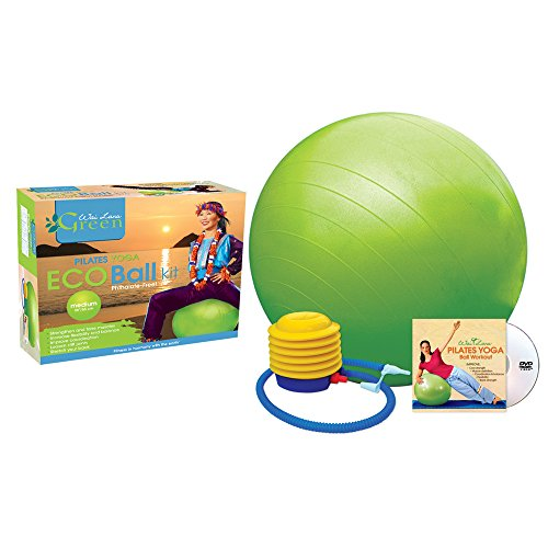 Eco Yoga Kit (Wai Lana Green Eco Ball Kit with DVD, Medium)