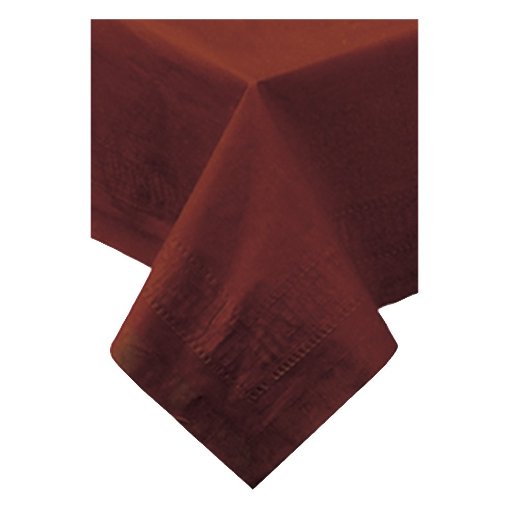 Hoffmaster 220646 Tissue/Poly Tablecover, 3 Ply, 108'' Length x 54'' Width, Chocolate (Case of 25)