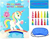 Best Birthday Party Favors - Pin The Horn on The Unicorn Party Game Review