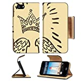 imperial armband iphone 5 - Liili Apple iPhone 5 iPhone 5S Pu Leather Flip Case illustration of royal crown and two angel wings iPhone5 Image ID 23061241