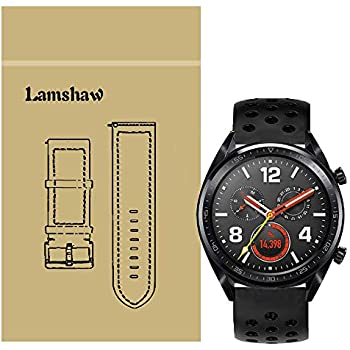 Amazon.com: for Huawei Watch GT Band, Lamshaw Silicone ...