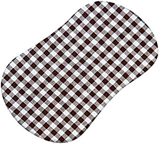 product image for SheetWorld Fitted Bassinet Sheet (Fits Halo Bassinet Swivel Sleeper) - Brown Gingham Check - Made In USA