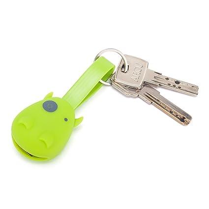 ViajeroStore Llavero cargador USB en forma de vaquita (Verde ...