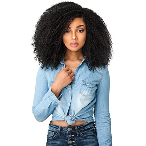 Sensationnel Curls Kinks & CO KINKY 4B-4C Empress Lace Edge Wig - GAME CHANGER (1 [Jet Black])