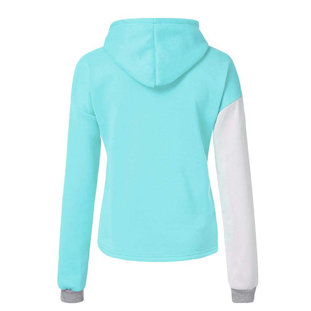 Amazon.com: AMSKY❤Women Autumn Long Sleeve Coat Patchwork Hoodie Hooded Sweatshirt Pullover Tops Blouse: Clothing