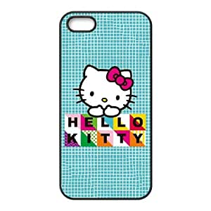 Hello Kitty Blue Pattern iPhone 5 5s Cell Phone Case Black DIY Gift xxy002_5054453