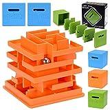 Decompression Toys 3D Intelligence Maze Cube Multilayer Maze Educational Toys- Random color
