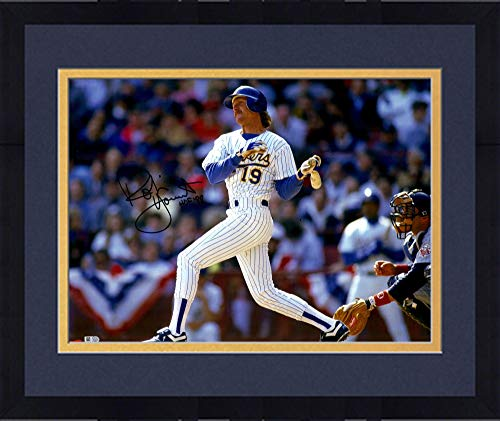 Framed Robin Yount Milwaukee Brewers Autographed 16'' x 20'' Horizontal Swing Photograph with