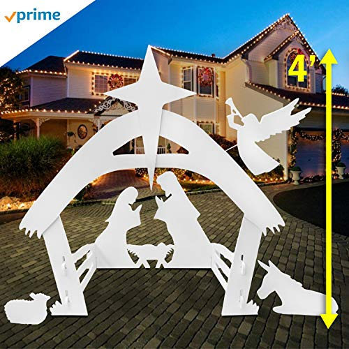 EasyGoProducts EGP-NAT-001 Set for Outdoor Christmas Decorations-Outside Yard Nativity, None (Outside Christmas Decoration For)