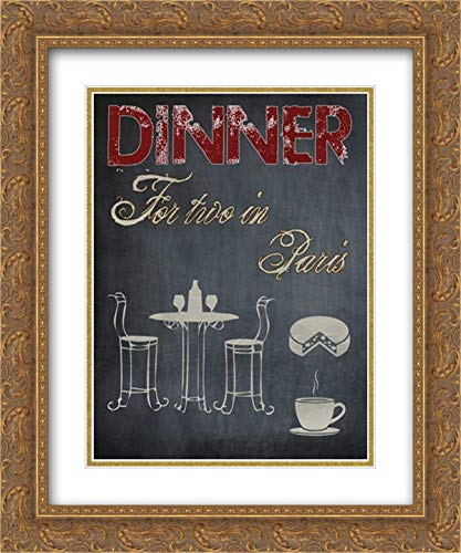 (Parisian Dinner 15x18 Gold Ornate Frame and Double Matted Art Print by Lewis, Sheldon )