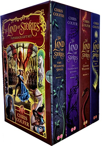 Price comparison product image Land of Stories Chirs Colfer Collection 4 Books Box Set (Book 1-4) (Wishing Spell, Grim Warning, Enchantress Returns)