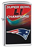 Zippo Nfl New England Patriots Super Bowl Li Champions High Polish Chrome Pocket Lighter