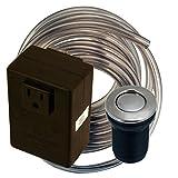 Brushed Nickel Garbage Disposer Air Switch Trim Unit
