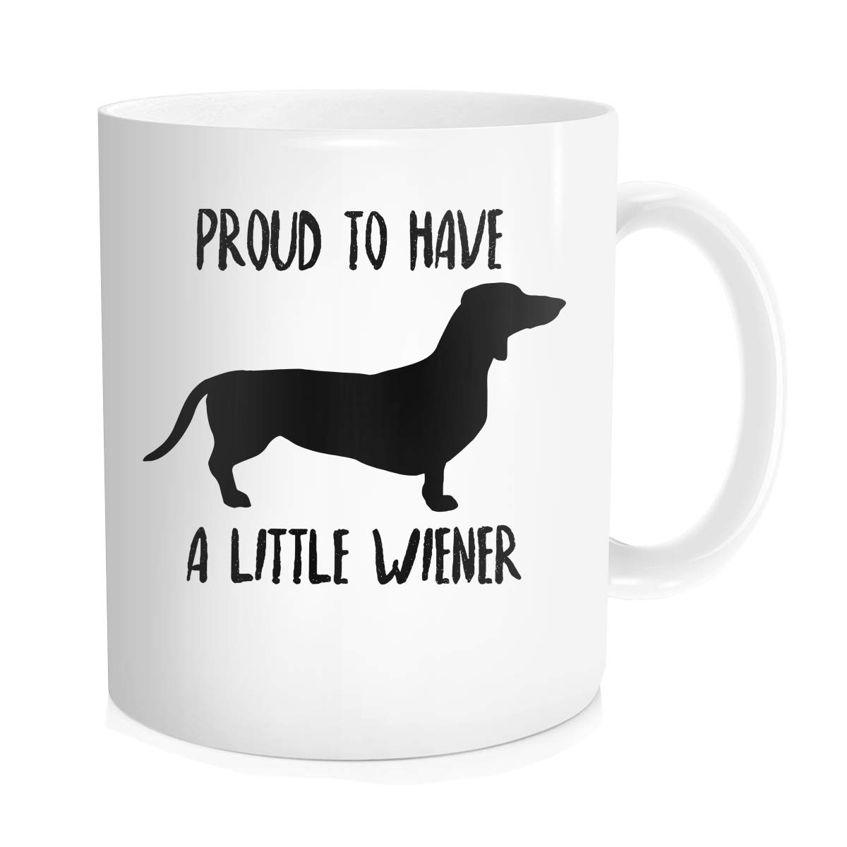 Hasdon-Hill Dachshund Coffee Mug, Proud To Have A Little Wiener, Dog Lover Gifts Best Dachshund Mom Ever Animal Pet Owner Rescue Gift, Funny Novelty Tea Cup ...