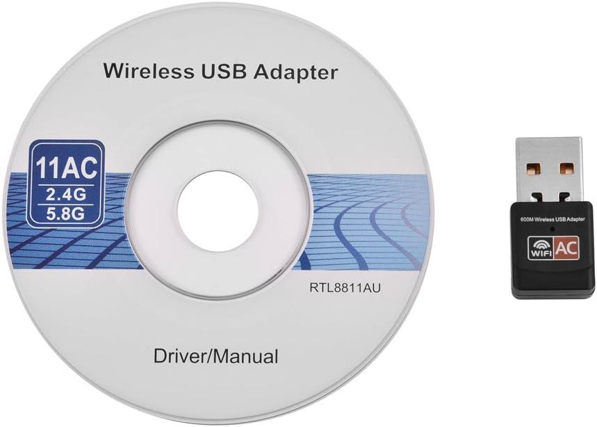 Simlug 600Mbps USB WiFi Dongle AC600 Dual Band 2.4G//5G Wireless Network Card for PC Laptop Desktop