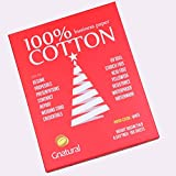 """Neutral 100% Cotton Paper Watermark Paper,24lb Inkjet Laser Printing Paper,8.5""""x11"""" White Color,100sheets Waterproof Business Paper"""