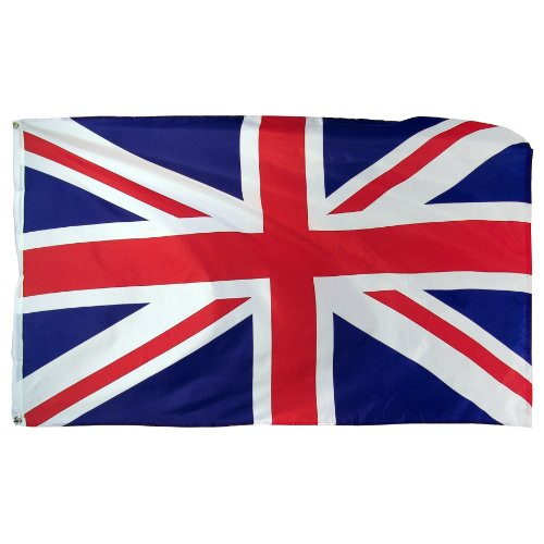 Online Stores United Kingdom Printed Polyester Flag, 3 by -
