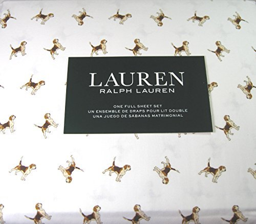 Ralph Lauren Dog - Lauren 4 Piece Full Size Sheet Set Beagle Dogs 100% Cotton
