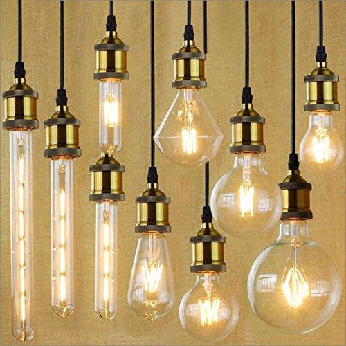 Amazon.com: 4 PCS LED Filament Edison Bulb 2W 4W 6W 8W 12W Antique Retro LED Candle Lights Chandelier Ampoule Lamparas Lampadina: Home & Kitchen