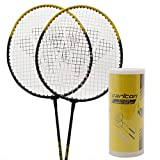 Carlton Unisex 2 Player Badminton Set Rackets & Shuttlecocks Sports Accessories