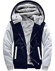 SwissWell Herenjas Windproof Thick Warm Active Coat Full Zip Jacket Outdoor Countrywear Pullover for Man Sweatshirt Top Heren Hoodie met zakken in premium kwaliteit