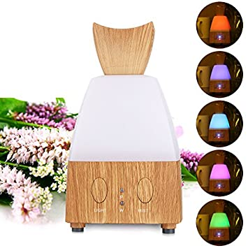 Athomestore Electric Essential Oil Diffuser Cool Mist Humidifier Mini Air Purifier Freshener with LED Light for Home Office Decoration and Sterilization Use Yellow