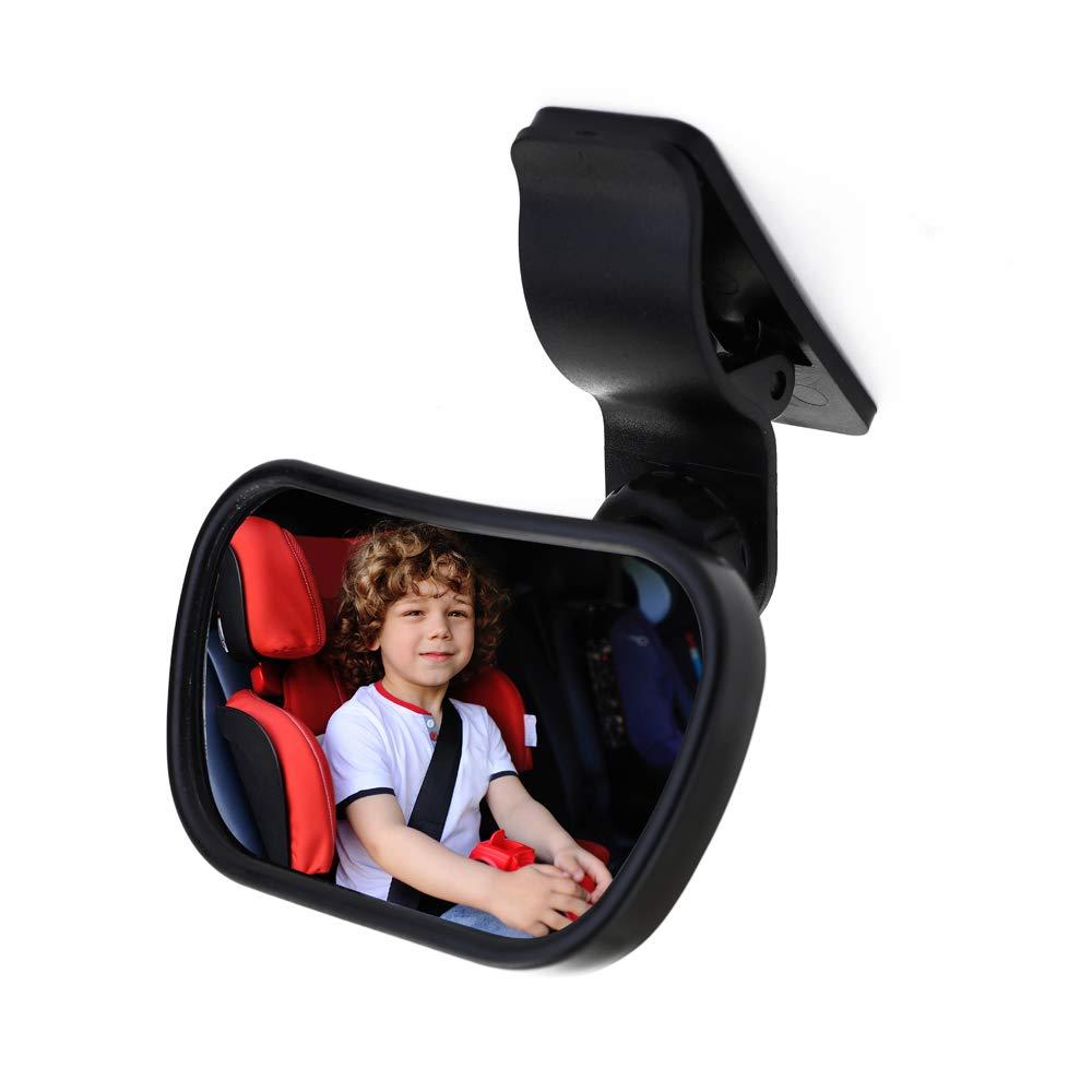 Auto Sicherheit R/ücksitz R/ückspiegel Baby View 2 in 1 verstellbare Baby hinten konvexen Spiegel Auto Baby Kids Monitor