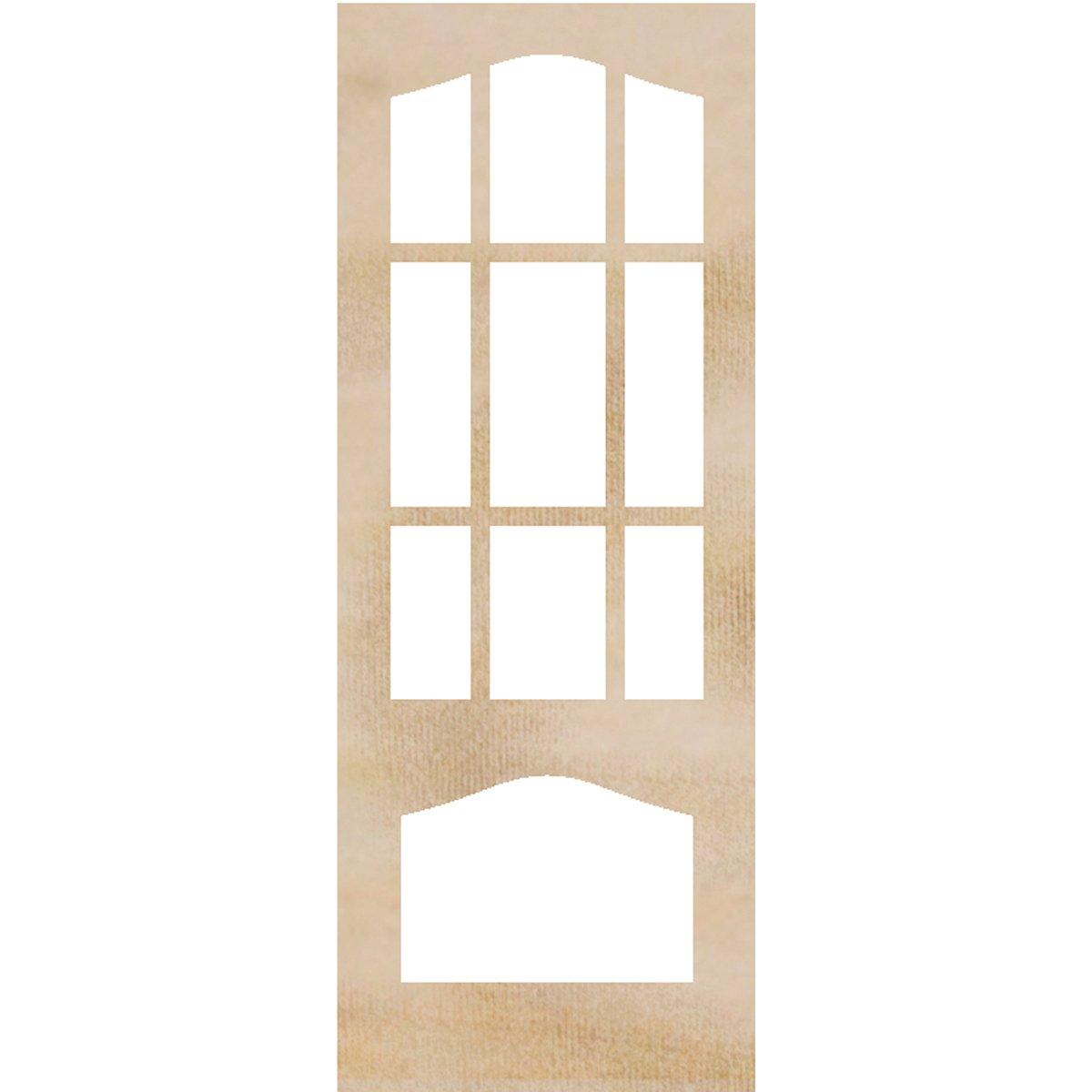 Kaisercraft Wood Flourishes 2/Pack-Decorative Door Frames, 4 x 10.25-Inch