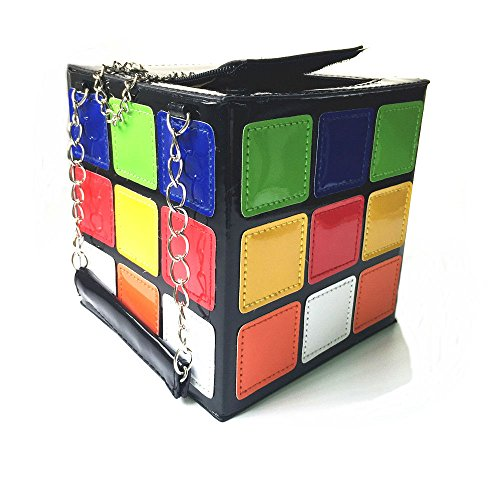 Yocome Exquisite Magic Cube Leather Novelty Handbag Girls PU Women Bag Colorful for Tote Funky Erq0rd