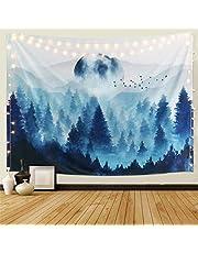 Dremisland Zonsondergang Wandtapijten Bos Boom Tapestry Bergmuur Opknoping Psychedelische Natuur Landschap Tapijt Woondecoratie voor Slaapkamer Woonkamer