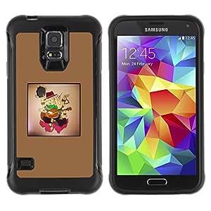 LASTONE PHONE CASE / Suave Silicona Caso Carcasa de Caucho Funda para Samsung Galaxy S5 SM-G900 / Violin boy
