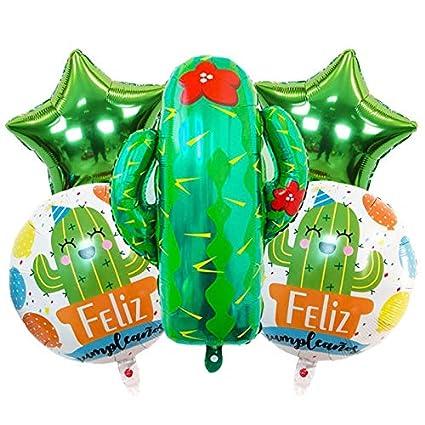 Horrenz - Globos de Helio inflables para Tarta de cumpleaños, diseño de Globos de Helio
