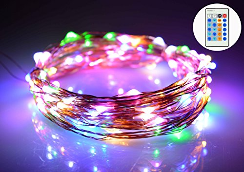 O-Best 33Ft 10M 100 LEDs Copper Wire Lights