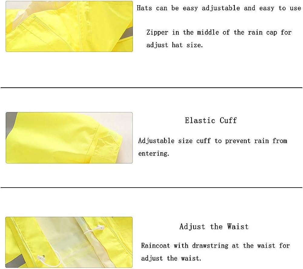 Fosheng Yellow Siamese Long Raincoat Rain Jacket Reflective High Visibility Poncho Rain Vest for Traffic Control