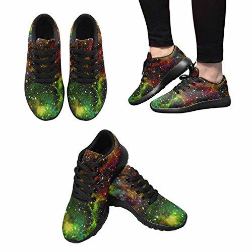 Interestprint Brillant Coloré Univers Femmes Jogging Running Baskets Léger Aller Facile Chaussures De Marche Multi 1