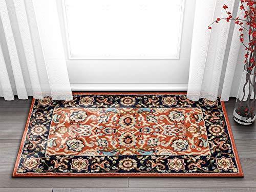Well Woven Darya Terracotta Orange Modern Sarouk Area Rug Updated Traditional Persian Style 2x4 (2'3