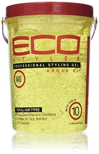 ECOCO Eco Style Gel, Argan Oil, 80 Ounce(2.36 Liter) (Best Eco Styler Gel For Edges)