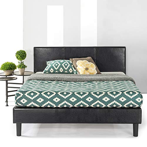 Best Price Mattress King Bed Frame - Agra Upholstered Faux Leather Platform Beds with Headboard and Wooden Slats (No Box Spring Needed), King Size
