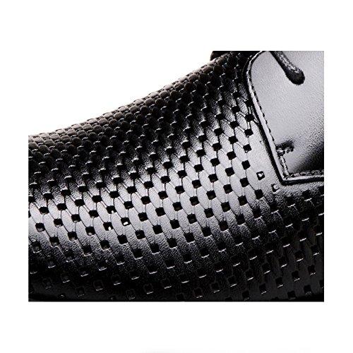 La Hommes Pour Mode Chaussures Cuir Sandales Lace YXLONG Hommes black Hommes Chaussures De En Up Cuir Respirant Creux vP8pwPZq
