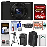 Cheap Sony Cyber-Shot DSC-WX500 Wi-Fi Digital Camera (Black) with 64GB Card + Case + Battery & Charger + Tripod + Kit