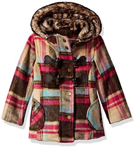 - Urban Republic Toddler Girls Wool Jacket, Brown Plaid, 4T