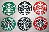 starbucks Starbucks old and new logo rubber coaster three colors 6 pieces set parallel import goods