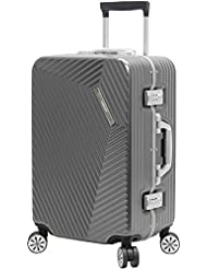 Andiamo Luggage Aluminum Frame 20 Carry On Zipperless Suitcase With Spinner Wheels