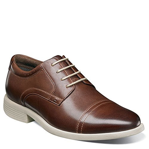 Nunn Bush Heren Dixon Cap Teen Lace Up Oxford Kore Comforttechnologie Bruin Meerdere