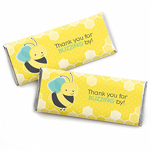 Honey Bee - Candy Bar Wrapper Baby Shower or Birthday Party Favors - Set of (Theme Candy Bar)